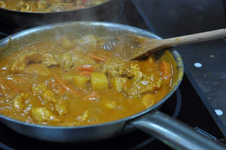 Underground Cookery School chicken curry