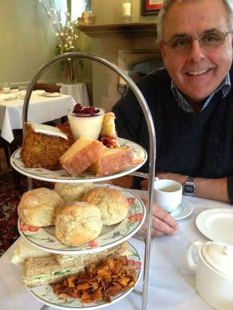 Burford House Hotel afternoon tea cakes yum dim sum