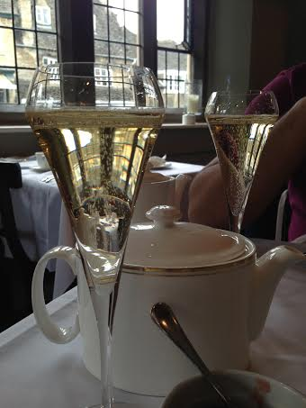Burford House Hotel afternoon tea champagne