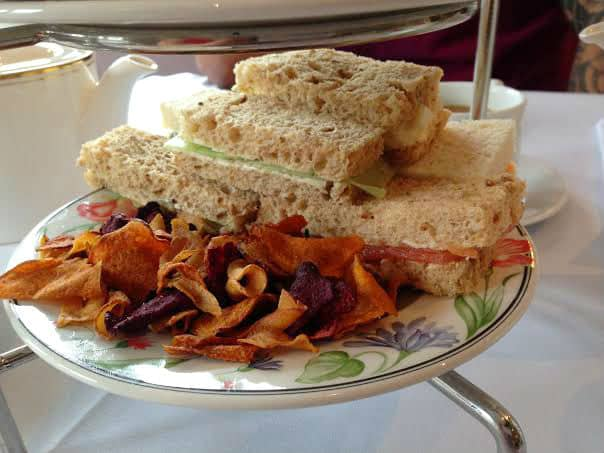 Burford House Hotel afternoon tea sandwiches