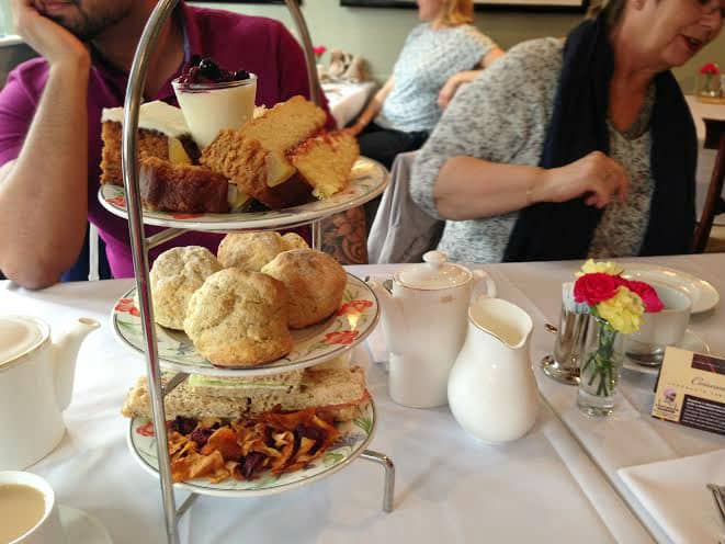 Burford House Hotel afternoon tea tiers