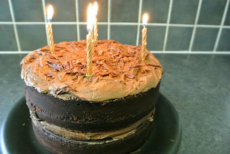 Devils food cake recipe birthday cake dark chocolate