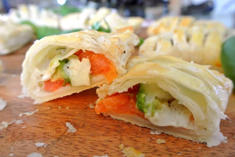 Pastry recipe tomato avocado mozzarella tricolore