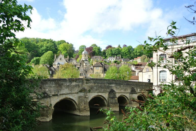 Bridge tea room Bradford on Avon review scenery