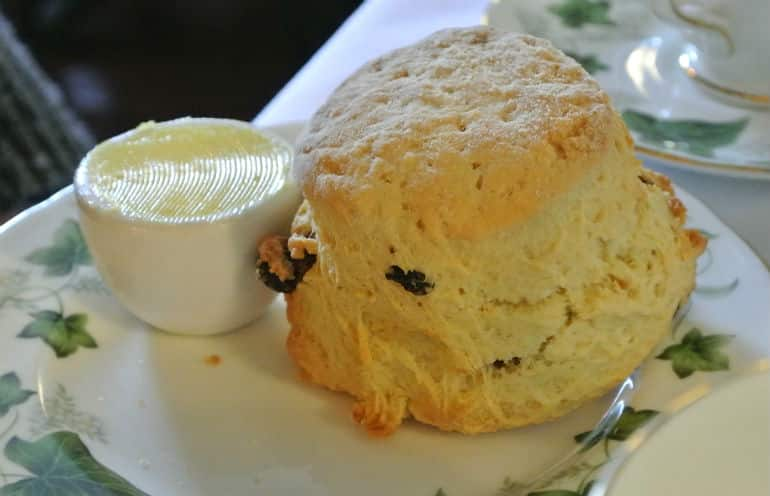 Bridge tea room Bradford on Avon review scone