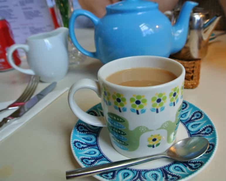 Court Gardens Holt tea room breakfast tea
