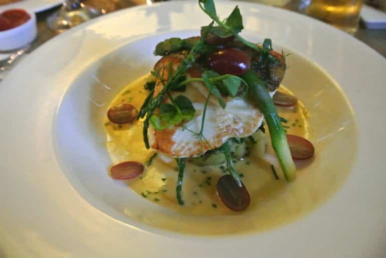 Marlborough Tavern Bath review restaurant fish course