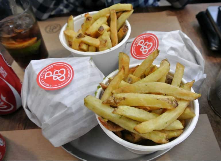 Patty & Bun burger review London St James burger chips