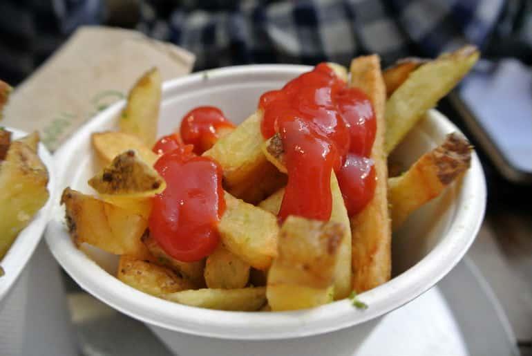 Patty & Bun burger review London St James chips
