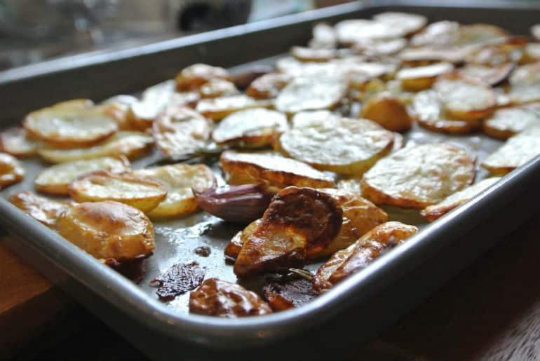 Potatoes garlic rosemary