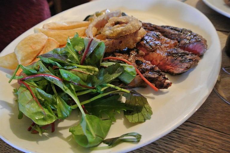 Tollgate Inn Holt review ribeye steak