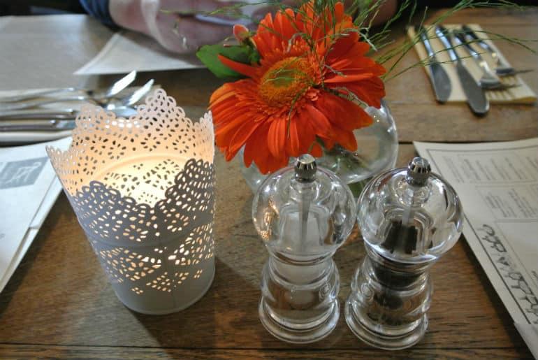 Tollgate Inn Holt review table decor