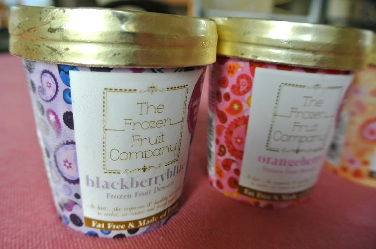 Frozen Fruit co review healthy dessert blackberryblue flavour