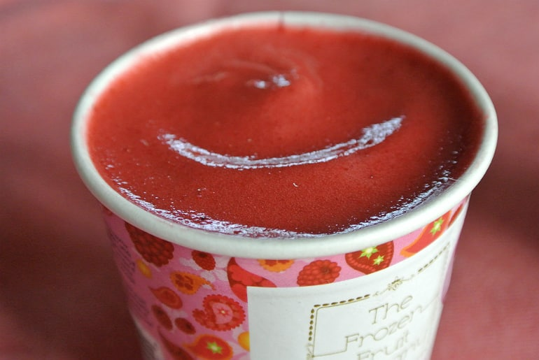 Frozen Fruit co review healthy dessert orangeberry flavour iced fruit
