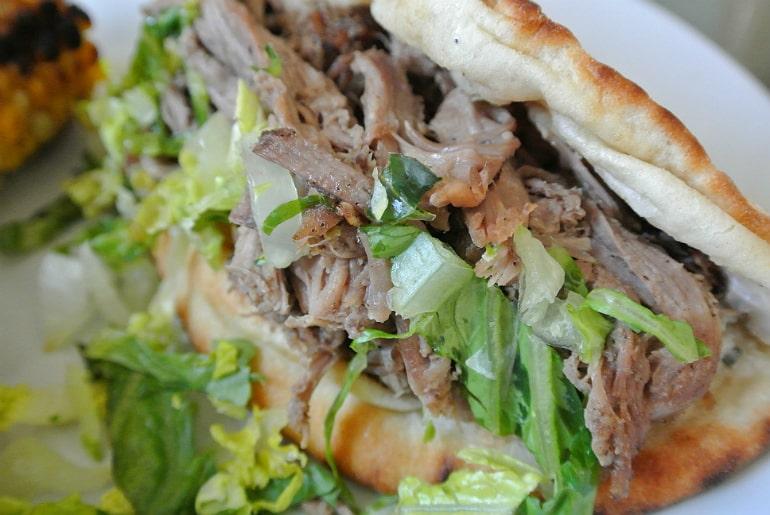 Percys bbq takeaway Milton Keynes review lamb pastrami flatbread