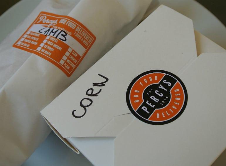 Percys bbq takeaway Milton Keynes review packaging
