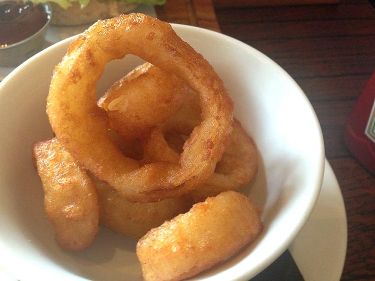 Prince george pub tattenhoe milton keynes review onion rings