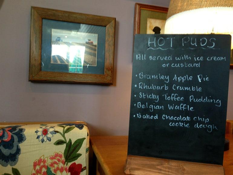 Prince george pub tattenhoe milton keynes review puddings menu