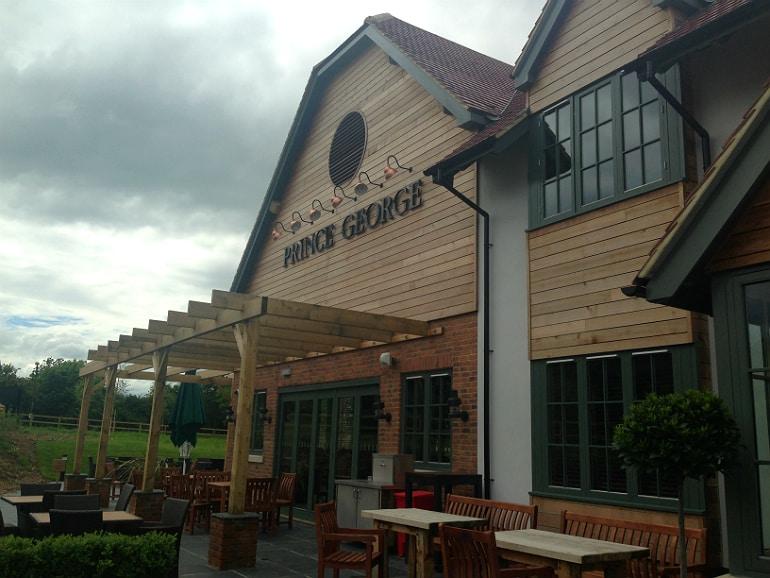 Prince george pub tattenhoe milton keynes review terrace
