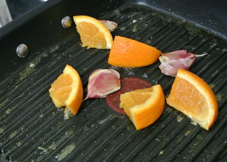 Sticky ginger chicken recipe oranges garlic