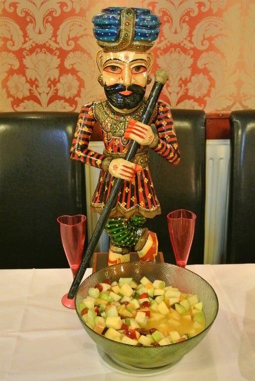 Calcutta Brasserie Stony Stratford Milton Keynes restaurant review Sunday buffet fruit salad