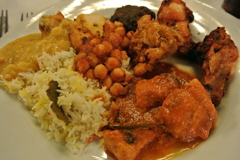 Calcutta Brasserie Stony Stratford Milton Keynes restaurant review Sunday buffet mains