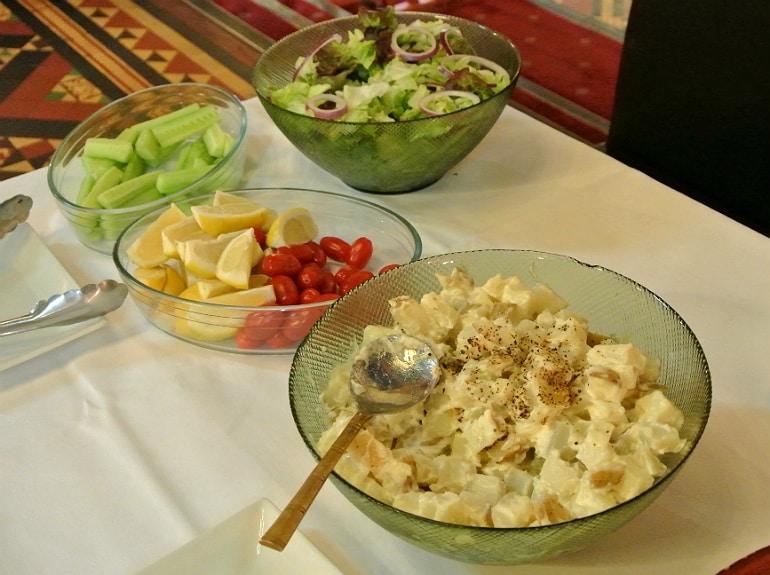 Calcutta Brasserie Stony Stratford Milton Keynes restaurant review Sunday buffet salad