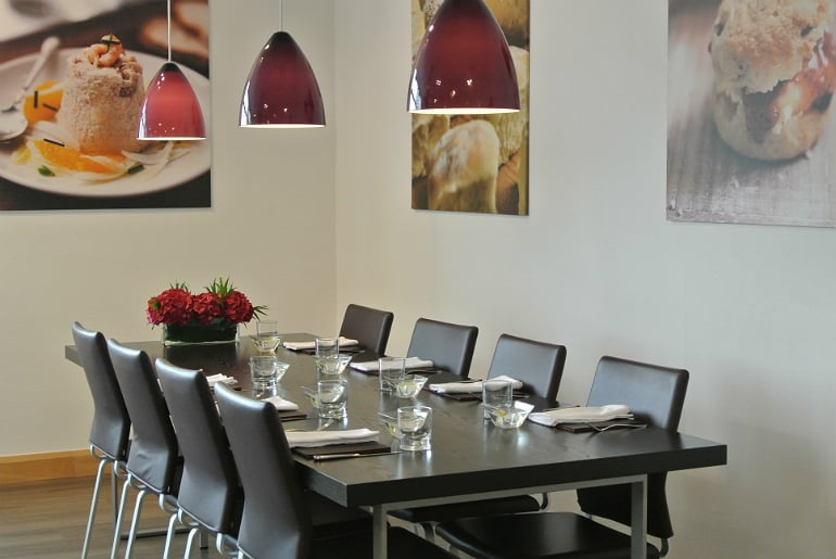 Miele Experience centre Abingdon dim sum sushi class dining table