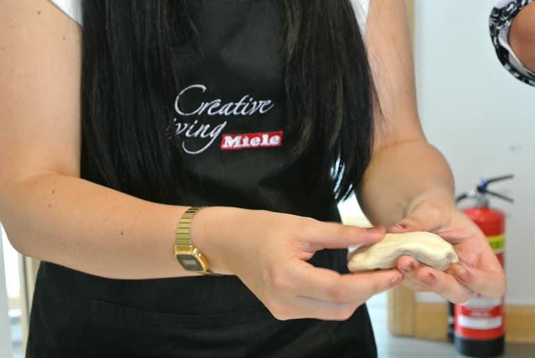 Miele Experience centre Abingdon steam oven dim sum sushi class bun dough