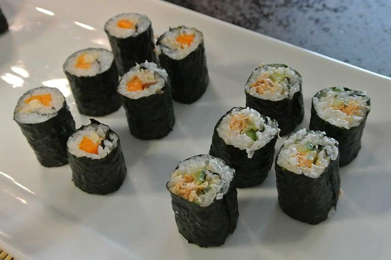 Miele Experience centre Abingdon steam oven dim sum sushi rolls