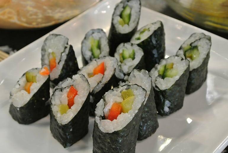 Miele Experience centre Abingdon steam oven dim sum veg sushi