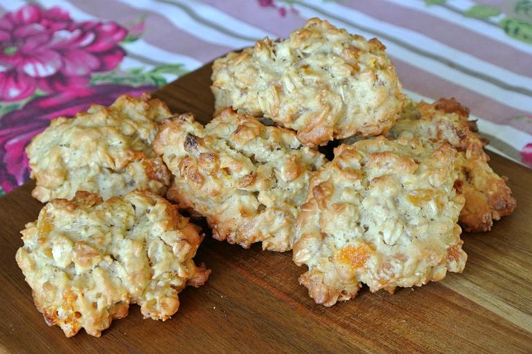 Apricot ginger oatmeal cookie recipe baking batch