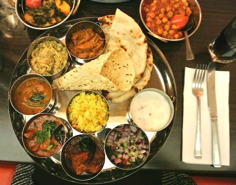 B-Town Milton Keynes Indian street food restaurant review North Indian Thaali