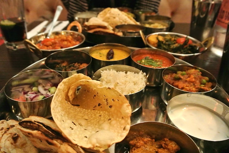 B-Town Milton Keynes Indian street food restaurant review North South Indian thaali