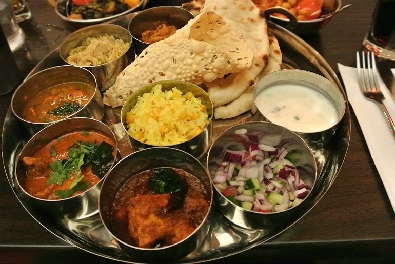 B-Town Milton Keynes Indian street food restaurant review South Indian thaali