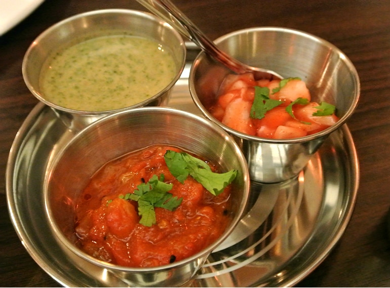 B-Town Milton Keynes Indian street food restaurant review condiments