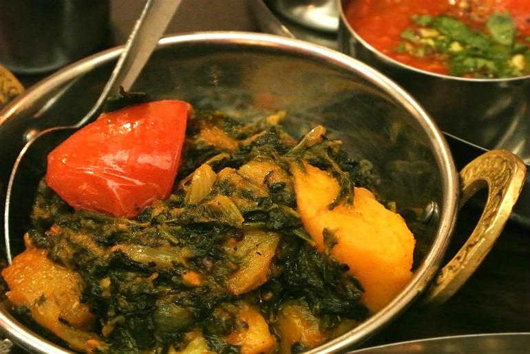 B-Town Milton Keynes Indian street food restaurant review saag aloo
