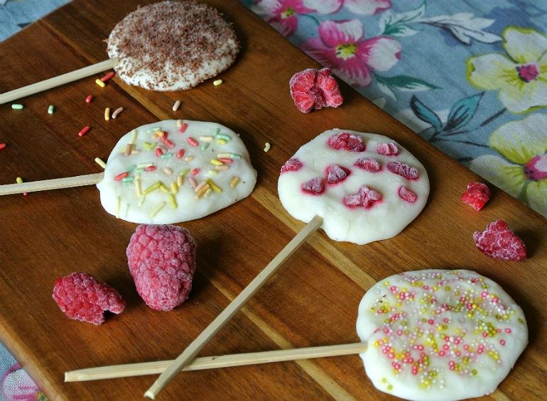 Frozen yoghurt froyo lollies healthy dessert idea