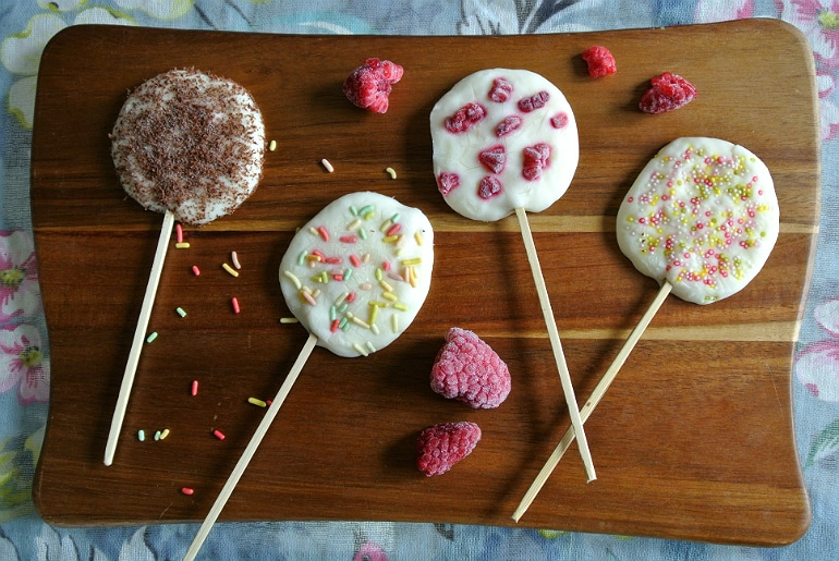 Frozen yoghurt froyo lollies healthy dessert ideas