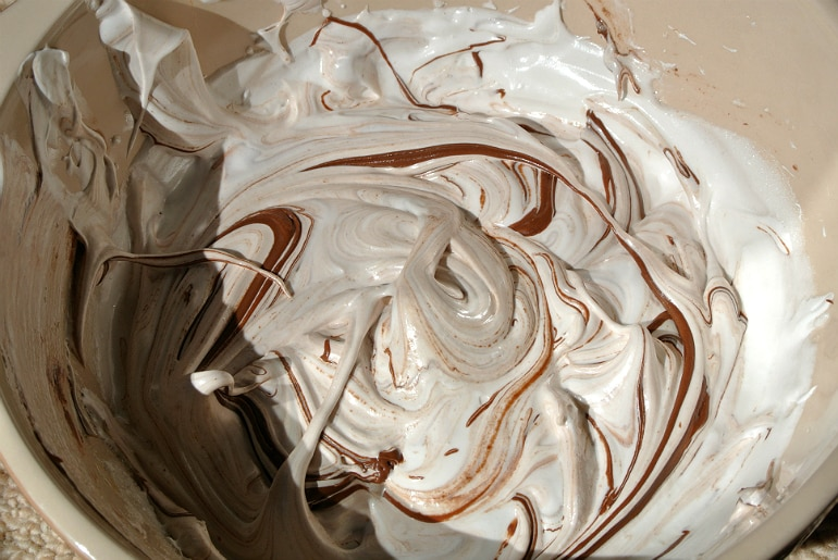 Nutella meringue recipe chocolate swirl
