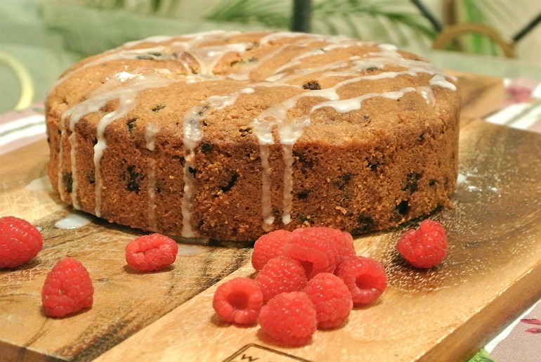 Almond raspberry rasin cake recipe