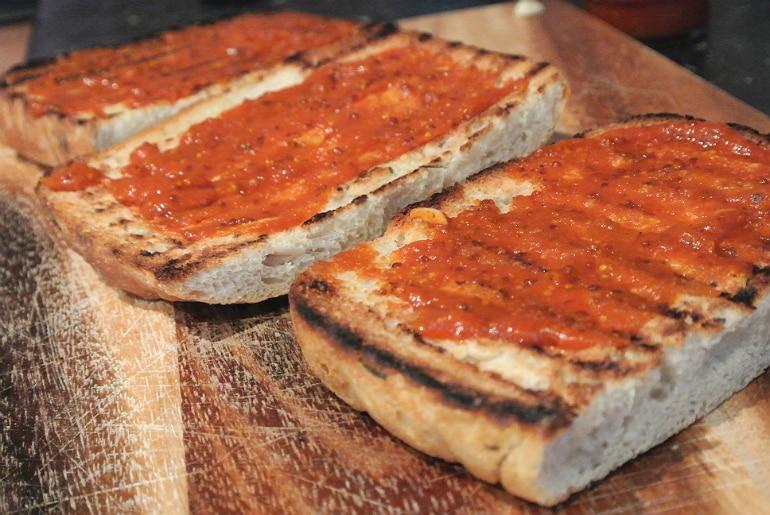Salters Mustchup review bruschetta recipe ciabatta