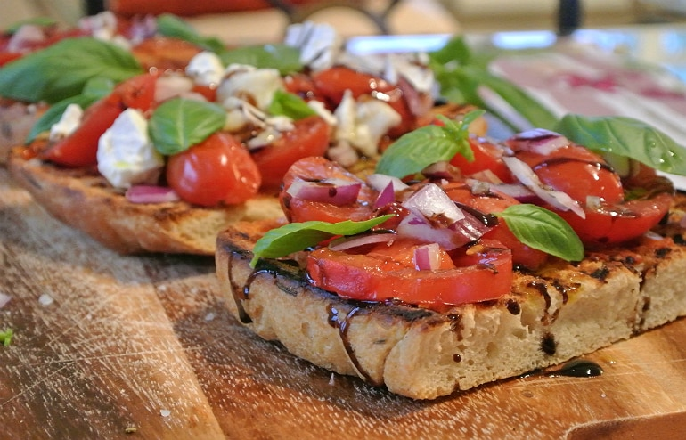 Salters Mustchup review bruschetta recipe goats cheese