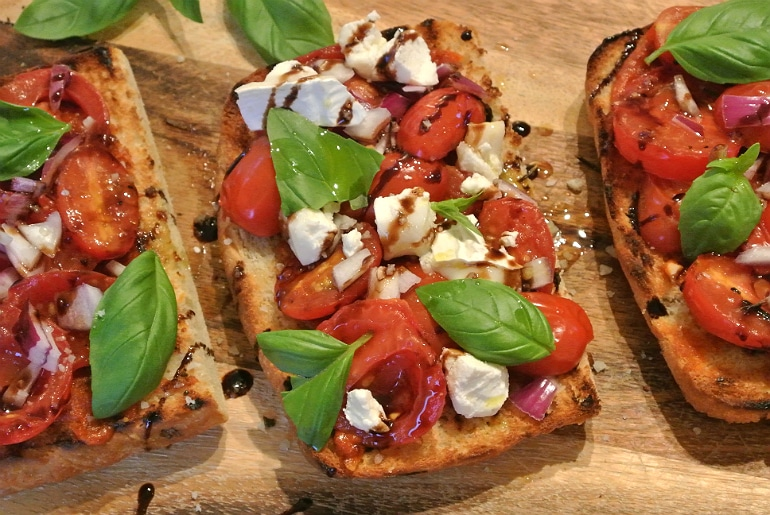 Salters Mustchup review bruschetta recipe