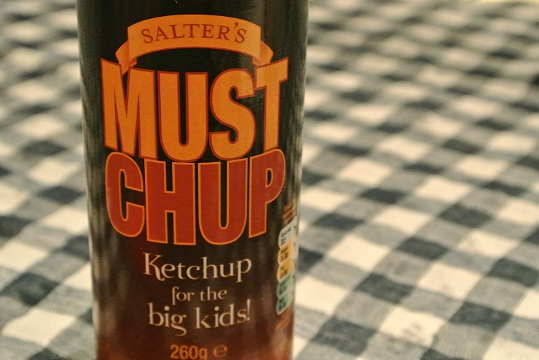 Salters Mustchup review condiment bottle