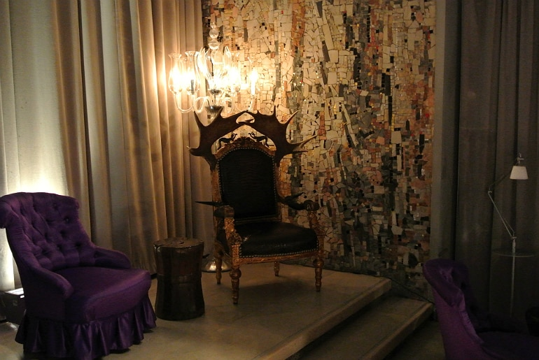 Sanderson London mad hatters tea party review antler throne