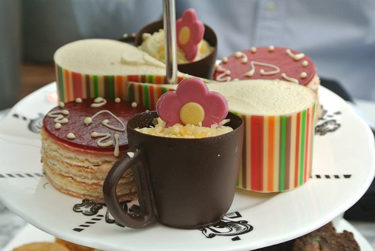 Sanderson London mad hatters tea party review cakes