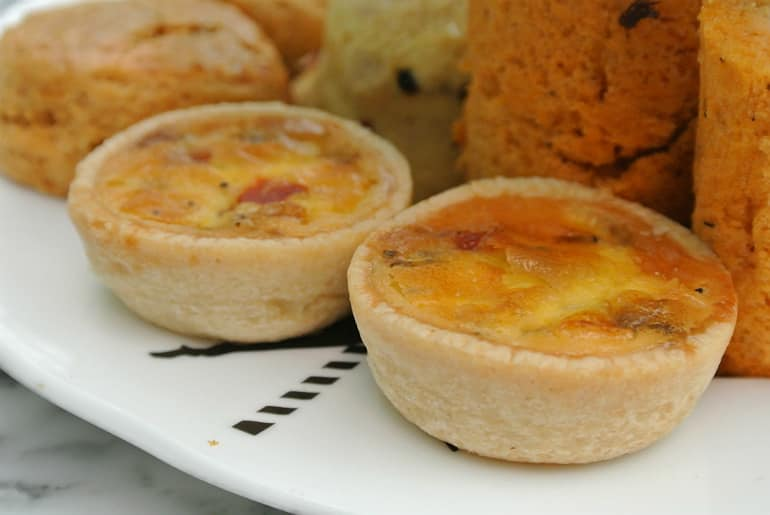 Sanderson London mad hatters tea party review quiche