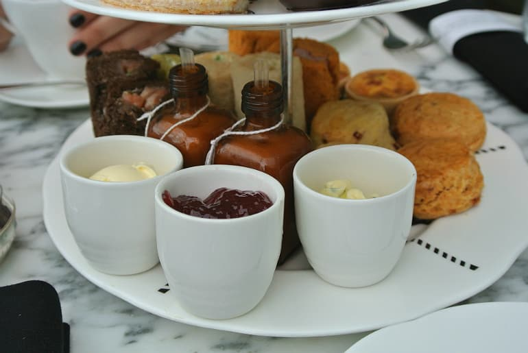 Sanderson London mad hatters tea party review scones