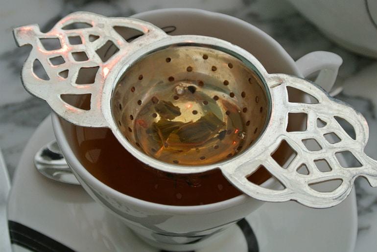 Sanderson London mad hatters tea party review tea strainer